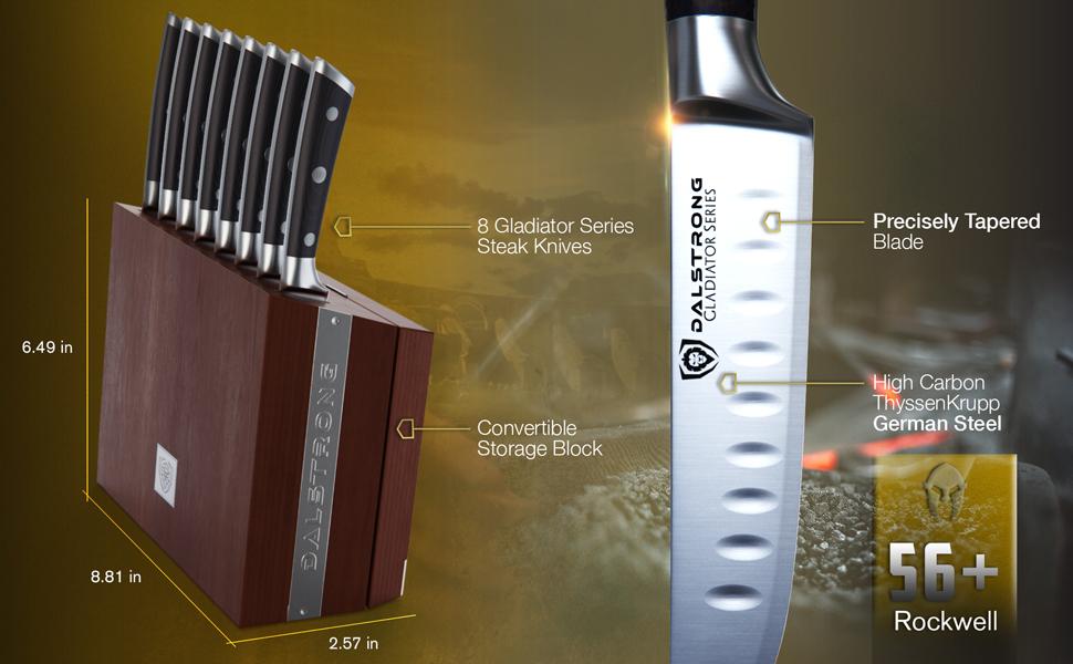 gladiator series german high carbon steel vegetable knife chef professional pakkawood premium