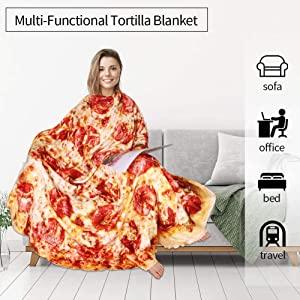 Pizza Burrito Tortilla Blanket