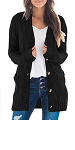 Open Front Long Sweater Cardigans