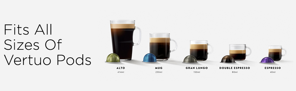 Peak Caf/é Nespresso Vertuo 30 Pod support pour de plus grands Vertuoline Pods Rangement suppl/émentaire disponible dans le carrousel int/érieur pour 1 grande bo/îte ou 3 manchons int/érieurs Espresso