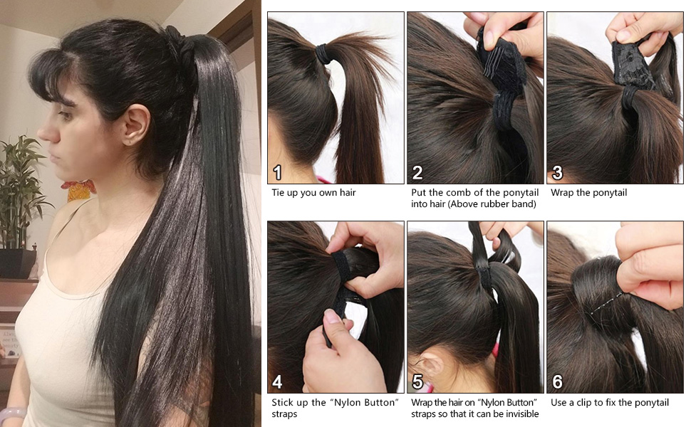 "How To Wear ""Nylon Button"" Ponytail"