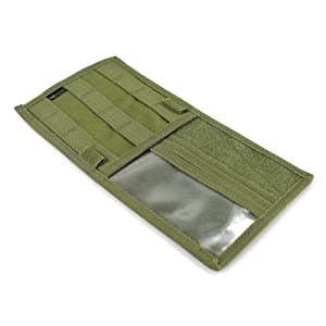 visor panel cover organizer tactical molle compatible pockets tactical od green olive drab