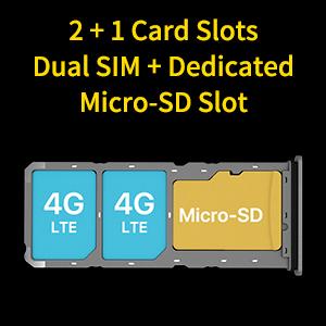 2 + 1 Card Slots