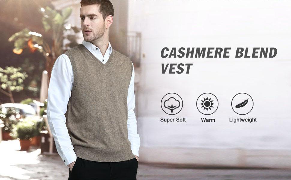 Knit sleeveless sweater for men sleeveless pullover pullover vest for men