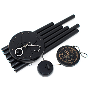 Wind chimes black 30inches large deep tone