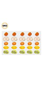 Pack de 10 Anti-adhésif Tapis de silicone