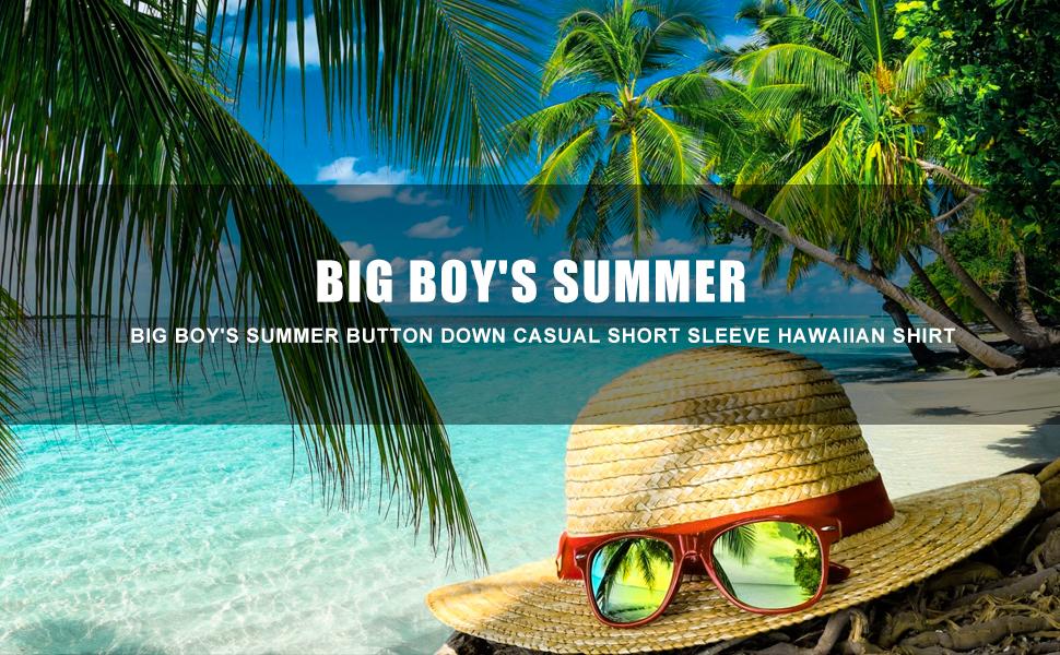FLORAL Hawaii shirt for boys