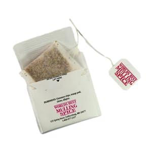 Mulling Spice in tea bag for apple cider mulled wine