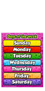 School Smarts Days of the Week Poster