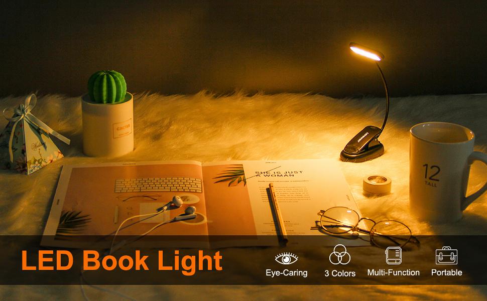 led book light reading light