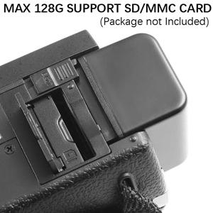 Support MAX 128G SD/MMC Card (not included)