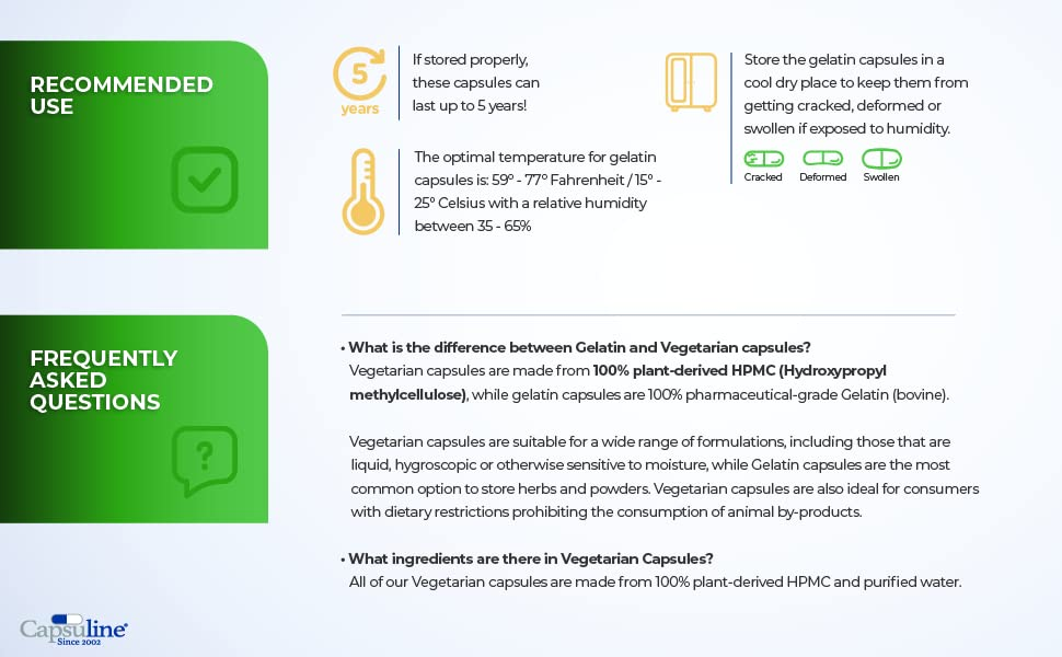 Empty vegetarian capsules Non GMO