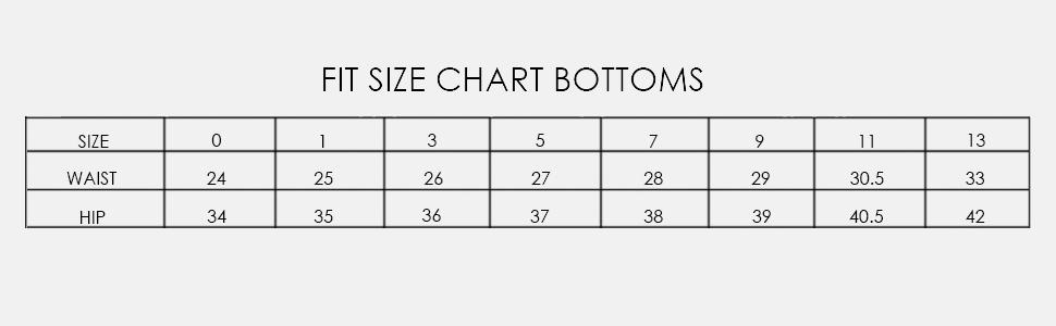 denim skirts size chart