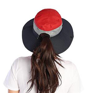 hats with ponytail