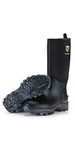 rubber muck hunting boot