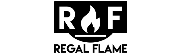 Regal Flame Wood Fire Pit Fire Ring – Heavy-Duty and Perfect for RV, Camping, and Outdoor Fireplace