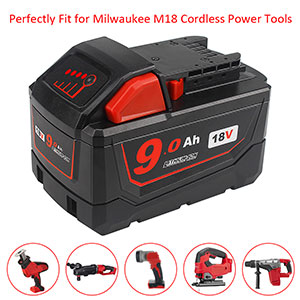 M18 battery 9.0ah for milwaukee 18v cordless lithium-ion battery cordless power tools
