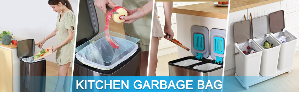 White garbage bag suitable for kitchen use