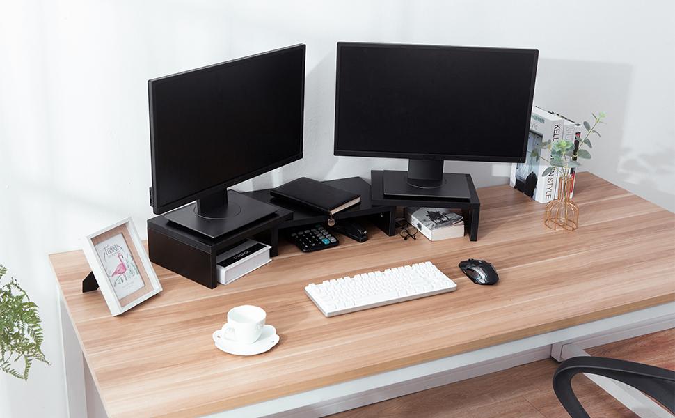 Soporte para monitor de madera