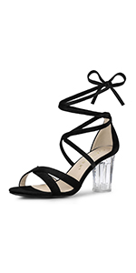 Clear Heel Lace-Up
