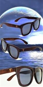 Pelican Sunwear wooden sunglasses grey polarized du dumu wood men women