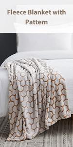 Fleece Blankets with Pattern