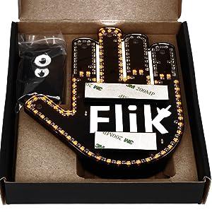 Flik middle finger light flick car driver feedback LED wave driving remote control flip off gift him