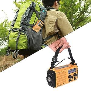 Portable weather radio