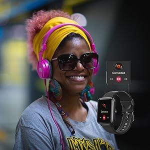 Mcnnadi Smart Watch Fitness Tracker Health Monitor -Music Control