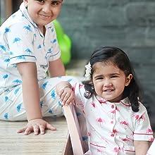 kids girls boys sleepwear pajama nightsuit cotton nightdress night wear printed pyjama set