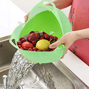 Plastic Food Grade Vegetable Washing used for storage Easy To Clean noodles pulses veggies grains