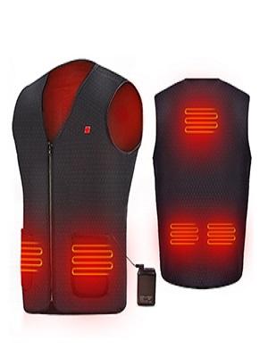 Elektrische Beheizte Jacke USB Lade Heizweste DEKINMAX Beheizte Weste f/ür Herren Damen Warme Heat Jacke mit 3 Fakultativ Temperatur f/ür Outdoor-Aktivit/äten Wandern Jagd Motorrad Camping