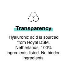 Hyaluronic Acid skin hydration plump soft skin moisturization dry sensitive oily skin vitamin B5