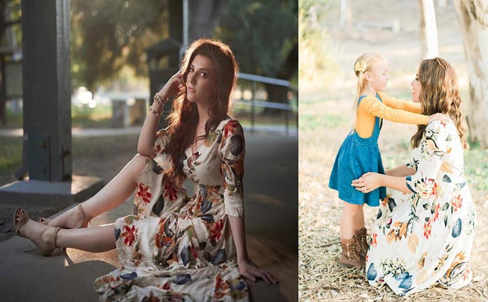 floral hight waist maxi dresses