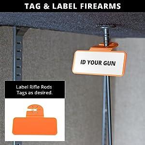 Rifle Rod Identification Tags ID