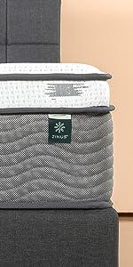 Zinus EPSM-13 iCoil POcket Spring memory Foam Mattress