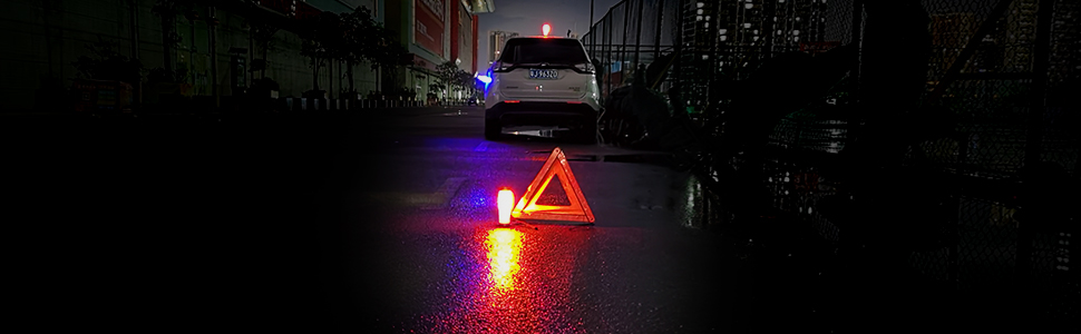 Multi-use Rechargeable LED Road Flares with Magnetic Base /& Hook for Car Repair and Warning Beacon Roadside Flash Warning Light Led Work Light Emergency work Light Jobsite Lighting 360/°Lighting