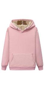 Warm Fleece Sherpa Lined Hoodie Pullover