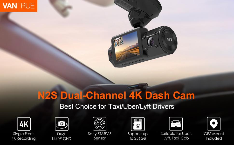 N2S Dual Channel 4K Dash Cam