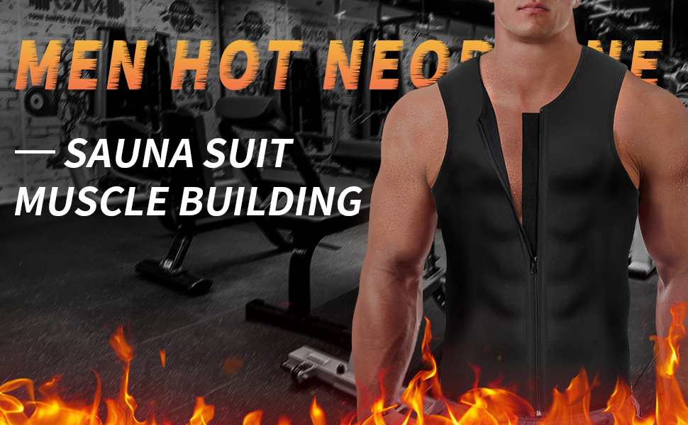 Men Hot Neoprene Sauna Suit
