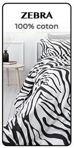 blanc noir zebra safari coton européen canvas lit avec housse boho bedding textile