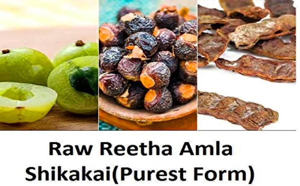 Raw Reetha Amla Shikakai