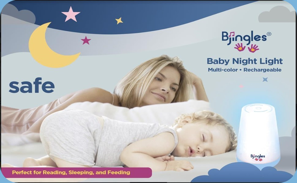 Baby Night Light, Lamp, Changes Colors, Rechareable, Perfect for Nursing, Diaper Changing & Reading