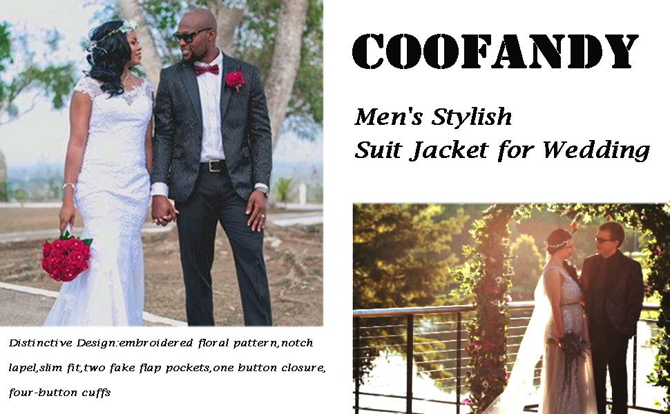 men floral suit jacket