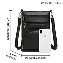Small Crossbody Shoulder Bag with RFID Blocking