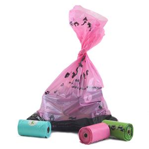 pink poop bags