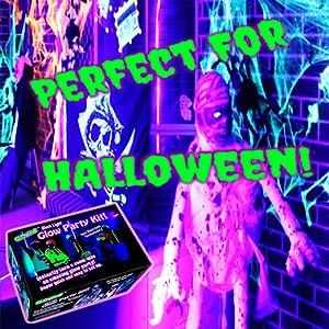 Halloween Black lights glow in the dark Halloween decorations blacklights party neon purple lights