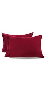 Burgundy Pillowcases