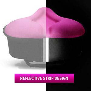 Tail reflective strip can reflect surrounding lights to protect night riders.bike seat cushion women