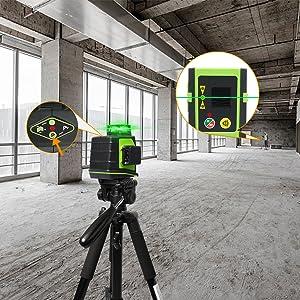 Mode impulsion extérieur à économie d'énergie: ¡ñAprès la mise sous tension, appuyez brièvement sur le bouton du mode d'impulsion «P» pour activer / désactiver le mode d'impulsion. ¡ñLe mode impulsion étend la plage de travail jusqu'à 60 m dans des conditions de travail plus lumineuses lors de l'utilisation avec le détecteur laser Huepar Line (ASIN: B07GVC2XD9). ¡ñLorsque le mode impulsion est activé, les faisceaux laser sont plus faibles, la pression sur les yeux est moindre lorsque vous travaillez à courte distance et le temps de travail peut être prolongé de manière appropriée. ¡ñIl est compatible avec le détecteur laser de